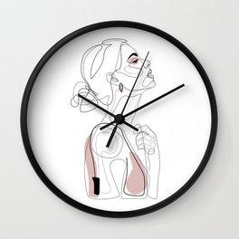 Blush Beauty Wall Clock