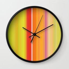 Sablo Lio ~ Orange & Lime Green Wall Clock