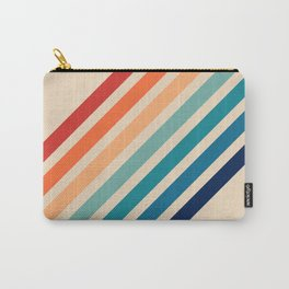 Vintage Retro 70s Rainbow Carry-All Pouch