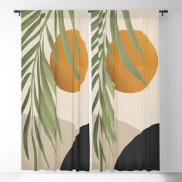 Abstract Art Tropical Leaves 47 Blackout Curtain