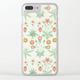 Daisy Block Printed Wallpaper, William Morris, 1864 Clear iPhone Case