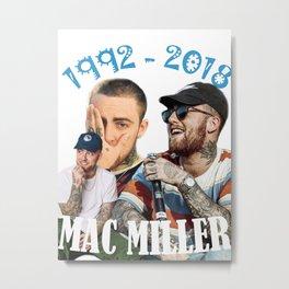 Mac Miller Rap Static Mixer Art Print2 Metal Print