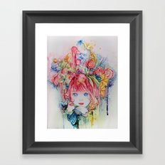 Nadias dream garden Framed Art Print