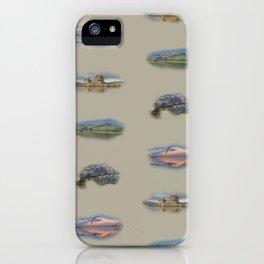Highland landmarks in beige iPhone Case