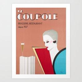 Plakat la coupole brasserie restaurant Art Print