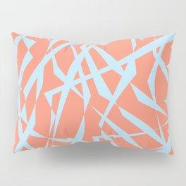 Salmon with Blue Cutouts Pillow Sham