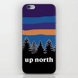 up north, blue & purple iPhone Skin