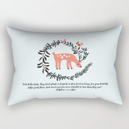Deer & Birds Rectangular Pillow