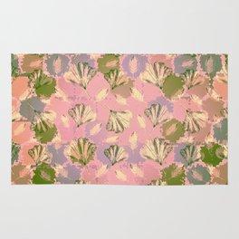 Mosaic Ginkgo (Peach and Pink) Rug