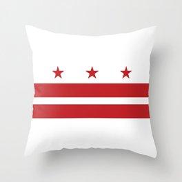 Washington, D.C. Flag Throw Pillow