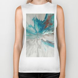 Blown Away - Abstract Acrylic Art by Fluid Nature Biker Tank
