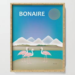 Bonaire - Skyline Illustration by Loose Petals Serving Tray
