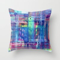 plaid Throw Pillows featuring Plaid by Julie M Studios