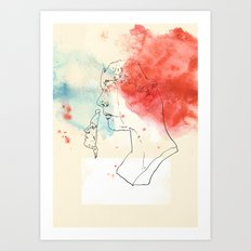 two women Art Print