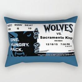 BASKETBALL TICKET STUB - WOLVES V KINGS Rectangular Pillow