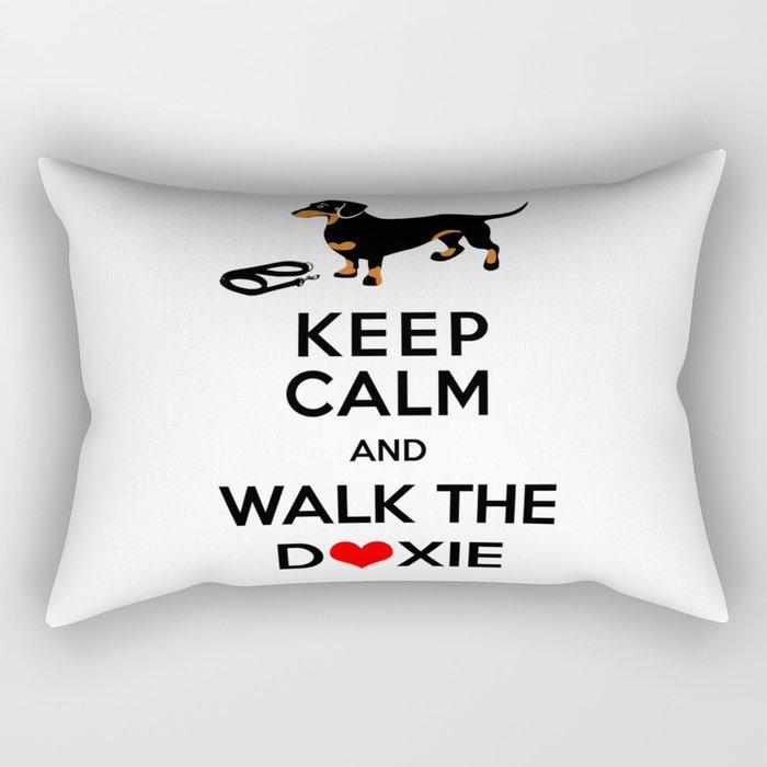 Walk the Doxie Rectangular Pillow