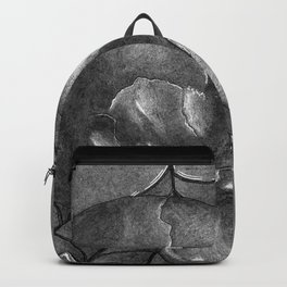 Black Grey and White, American Style Tattoo Skull Backpack