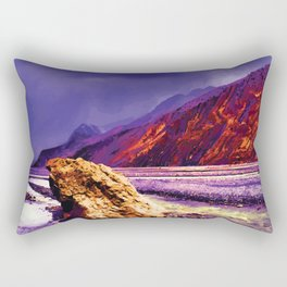Solitary - A lone rock against the forces of nature Rectangular Pillow