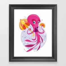 Miss Octopus Framed Art Print