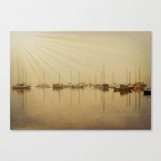 Foggy Seaside Morning Canvas Print