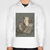 owls Hoodies featuring Owls by Jessica Roux