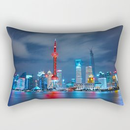 Shangai, China Rectangular Pillow