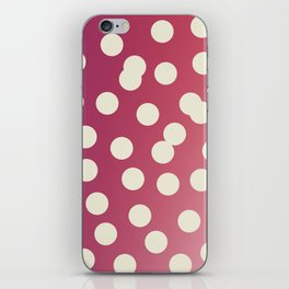 Design dots on pink. Vint. 50s dots iPhone Skin