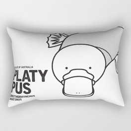 Platypus, Wildlife of Australia Rectangular Pillow
