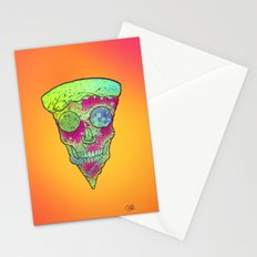 Skull Slice Neon Stationery Cards