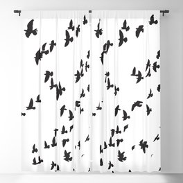 Happy Birds Blackout Curtain