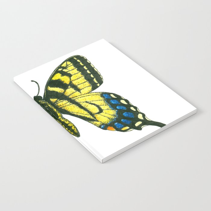 Tiger swallowtail butterfly watercolor and ink Notebook