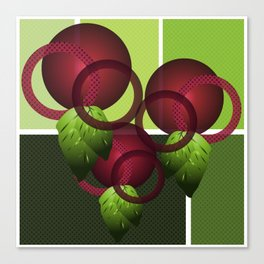 Raspberry with Basil II Canvas Print