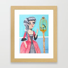 A Little Birdie and Her Secret Framed Art Print
