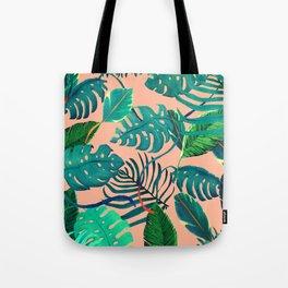 Summer Tropical Leaves Tote Bag