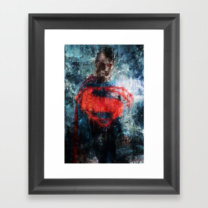 Superman Stare - Wall Art, Print, Home Decor, Dorm Decor ...