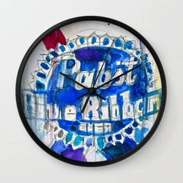 Pabst Blue Ribbon Beer Wall Clock