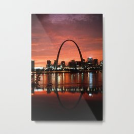 The St. Louis Arch at Dusk Photograph Metal Print
