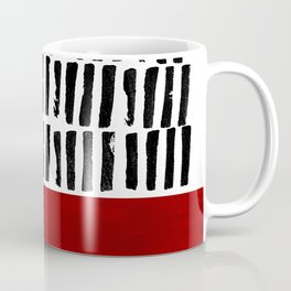 Red and black lines Coffee Mug