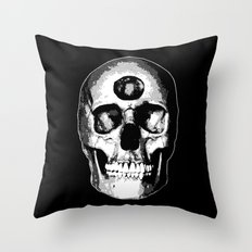 Third Eye Bones (Black and White Edition) Throw Pillow