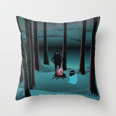 Long Talks Short Nights Throw Pillow