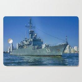 Army Ship in Caribbean Sea, Cartagena - Colombia Cutting Board