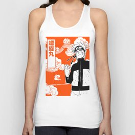 ninja anime orange Unisex Tank Top