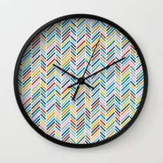 Herringbone Colour Wall Clock