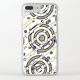 Geometrical tiles1 Clear iPhone Case