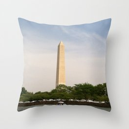 Paddling Up to the Washington Monument Throw Pillow