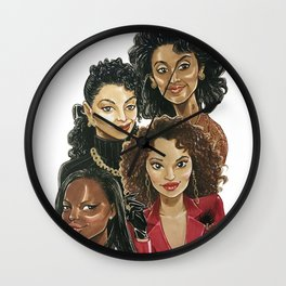 Bad and Boujee Wall Clock