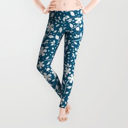 retro flower background Leggings