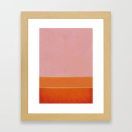 Orange, Pink And Gold Abstract Painting Framed Art Print
