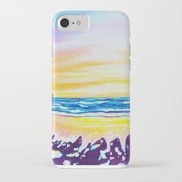 sunrise at rodanthe pier iPhone Case