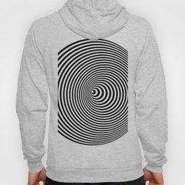 Vortex, optical illusion black and white Hoody